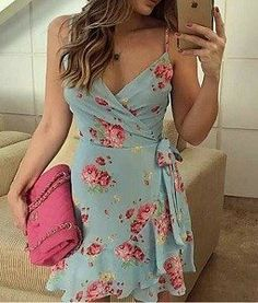 16 Ideas diy summer dress tuto robe for 2019 Cute Dresses, Beautiful Dresses, Casual Dresses, Short Dresses, Fashion Dresses, Summer Dresses, Diy Dress, Dress Skirt, Wrap Dress