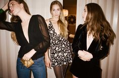 Danielle, Este and Alana Haim for Reformation x Haim's NYE Collection. Photo: Reformation.