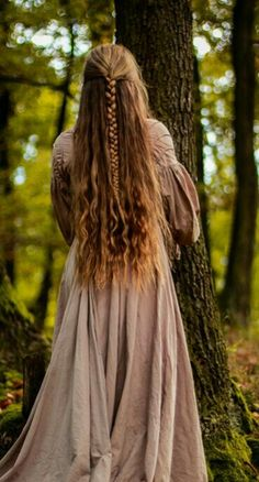 Forest Maiden Braided Long Hair