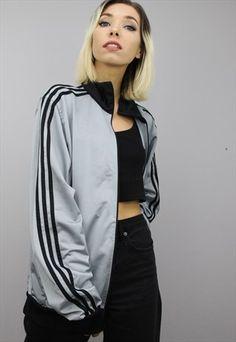 Vintage+90s+Adidas+Tracksuit+Top Adidas Tracksuit, Tracksuit Tops, Adidas Jacket, Bomber Jacket, Reebok, Streetwear, Asos, Urban Street Style, Nike