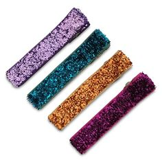 Moo G Clips no slip hair accessories - SimpleClippies AllGlitters - BoldGlitter - 1