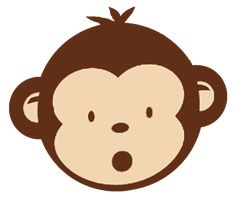 Free to share baby monkey clipart for your website Cartoon Monkey, Pet Monkey, Monkey Bag, Monkey Birthday Parties, Jungle Theme Birthday, Pendant Banner, Year Of The Monkey, Safari Party, Animal Faces