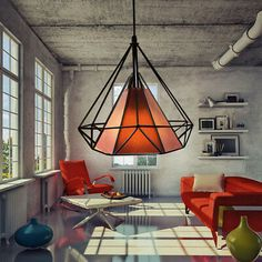 Modern Wire Geometric Lamp Shade Cage Style Pendant Light Metal Ceiling Vintage     eBay Pendant Light Fixtures, Pendant Lamp, Pendant Lighting, Metal Ceiling, Ceiling Lamp, Ceiling Lights, Drop Lights, Hanging Lights, Hallway Lamp