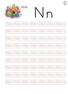 Düz Yazı N Sesi Yazılışı Kindergarten Math Activities, Preschool Writing, Preschool Learning, Teaching Kids, Turkish Lessons, English Letter, Turkish Language, Drawing Lessons, Coloring Books
