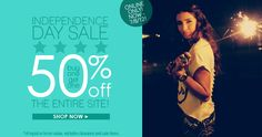 Shop our Independence Day Sale! BOGO 50% off the entire site!