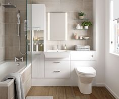Contemporary crisp clean design provides a stunning backdrop for natural light. Book a design consultation with Gary Fullwood today. Contemporary Small Bathrooms, Small White Bathrooms, Ideal Bathrooms, Beautiful Bathrooms, Fitted Bathrooms, Modern Bathroom, Bathroom Design Luxury, Bathroom Design Small, Bathroom Interior