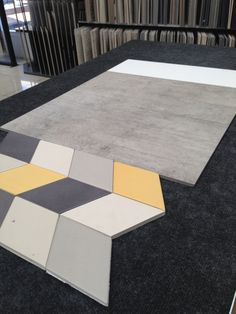 Pop of Yellow with Geometric Shapes – Local Geelong Project - Tile Concept Consult selection with Interior Design Tracy Caporusso #bathroom #interiordesign #tiles #mutina #geelongwest #bookyourappointment