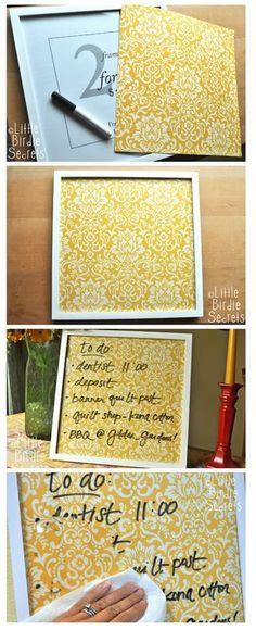 Simple DIY dry erase