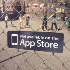 Not available in the App Store Playground sign