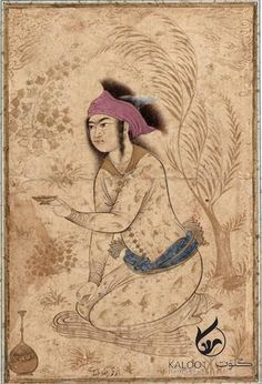 Youth kneeling and holding out a wine-cup early century Safavid period Ink and color wash on paper H: W: cm Isfahan, Iran Purchase Freer-Sackler Islamic World, Islamic Art, Arte Latina, Oriental, Art Asiatique, Islamic Paintings, Exotic Art, Iranian Art, Art Costume