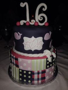 My sweet 16 Vineyard Vines themed birthday cake!