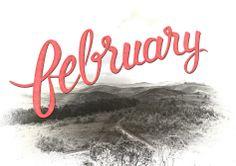 Hand lettering February #DrawSomething