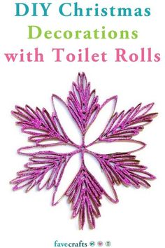 There is no denying that this Merry Magenta Toilet Paper Roll Snowflake is going to be the star of the show this Christmas. Use this beautiful snowflake craft as a handmade Christmas ornament that can be hung on the tree or in front of windows. Diy Christmas Decorations With Toilet Rolls, Christmas Toilet Paper, Paper Christmas Ornaments, Christmas Craft Projects, Christmas Gift Guide, Simple Christmas, Handmade Christmas, Christmas Crafts, Christmas Ideas