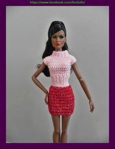 "Ropa  para muñeca Fashion Royalty / Integrity / Barbie / Poppy Parker / muñecas 12"" de Fordollsboutique en Etsy"
