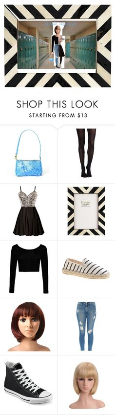 """Half-flaH"" by lucy-s123 on Polyvore featuring Meredith Banzhoff, SPANX, Boohoo, J.Crew, Frame Denim, Converse and Jimmy Choo"