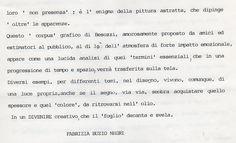 1991 Testo critico di Fabriazia Buzio Negri