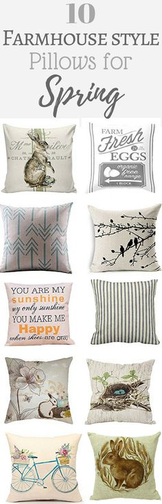 Simply Beautiful By Angela: 10 Farmhouse Style Pillows for Spring.  Farmhouse Pillows on a Budget.