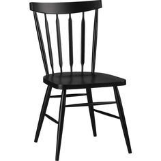 Willa Raven Side Chair in Dining Chairs | Crate and Barrel