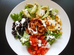 Flavors by Four: Southwestern BBQ Chicken Ranch Salad
