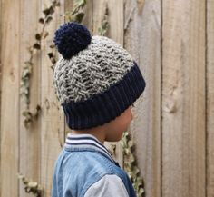 """Crochet Beanie Crochet Pattern crochet pattern for cabled """"Carter Beanie"""" Boys Patterns PATTERN ONLY"""