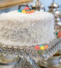 Coconut Cake with Coconut Filling and Coconut Frosting. Recipes for all three