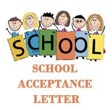 How to write admission acceptance letter