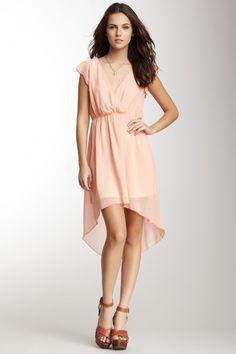Ruffle Sleeve Hi-Lo Hem Dress by Romeo & Juliet - such a sweet feminine dress