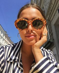 Loving the sunnies and shirt combination. This is 100% my style! ღ   Awesome fashion clothes for stylish women from Zefinka.
