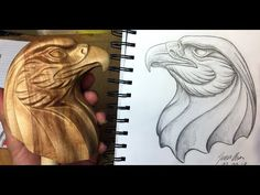 In this video i am turning a piece of birch wood into an eagle head wood carving. It was a fun project and i am pretty sure i will make another sculpture in . Wood Carving Designs, Wood Carving Patterns, Eagle Head, Bald Eagle, Dremel Carving, Carving Wood, Eagle Pictures, Eagle Project, Wood Badge