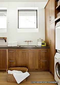 Laundry room adore! Nice alternative to all white. Atlanta Interior Design by Amy D. Morris Interiors