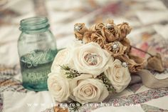1 year Anniversary photos using elements from your wedding