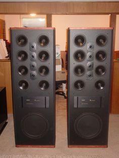 Polk SDA SRS Originals. High End Speakers, Monitor Speakers, Stereo Speakers, Audiophile, Audio Music, Car Audio, Floor Standing Speakers, Electronic, Ejercicio