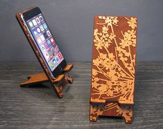 iPhone iPhone 6 Plus, iPhone 5 or iPhone Samsung Galaxy Phone Stand Docking Station - Wood Lace Flower - Universal Smart Phone Stand Monogram Gifts, Personalized Gifts, Diy Phone Stand, Decoupage, Cnc, Pink Phone Cases, Phone Logo, Video Pink, Wooden Watch