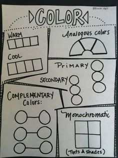 Color worksheet 3rd - 5th grade & could be used as an example poster on bulletin board.