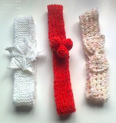 These headbands can be customised with a wide range of motifs and stitch patterns. Instructions for four different variations are given here, but there are lots of other ideas you could try.