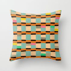 """""""mess around"""" Throw Pillow by SpinL on Society6."""