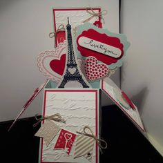 Stampin Up Card in a box Valentine - follow my heart, hearts a flutter, banner blast Oakville demo Gloria Kremer