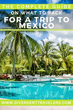 Preparing for your vacation can be one of the most stressful parts. We have visited Mexico more than a dozen times over the years and have visited multiple areas. We know how and what to pack for the perfect vacation in this part of the world. Here's a complete guide on what to pack for a trip to Mexico. Travel Advice, Travel Guides, Travel Tips, Travel Articles, Travel Hacks, Travel Packing, Mexico Vacation, Mexico Travel, Canada Travel