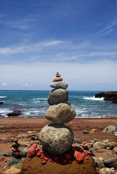 Playa Colorada, a small beach, 20 minutes walking from Montezuma