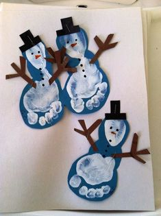 Christmas Crafts for infants Basteln Winter - christmascrafts Kids Crafts, Preschool Christmas Crafts, Daycare Crafts, Winter Crafts For Kids, Snowman Crafts, Holiday Crafts, Clay Crafts, Kids Diy, Christmas Activities For Children