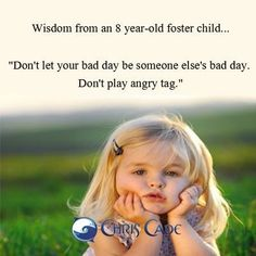 Bad Days- wise little girl!