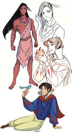 Genderbending Disney by Miyuli