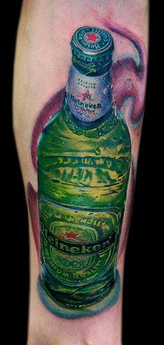 22oz Heineken bottle by artist Cecil Porter