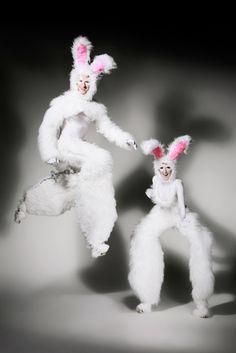 Bunnies - Stilt Walkers