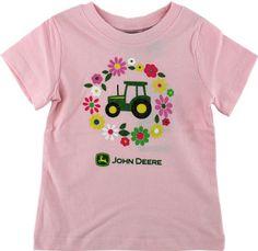 """John Deere """"Flower Tractor"""" Pink Toddler Girls « Clothing Impulse"""