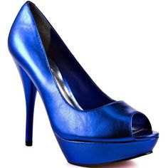 Hate to admit but these are actually not horrible - esp for price. Would look great w. a lot of what's coming this spring... Amazon.com: Paris Hilton Corine - Royal Blue Metallic: Paris Hilton: Shoes