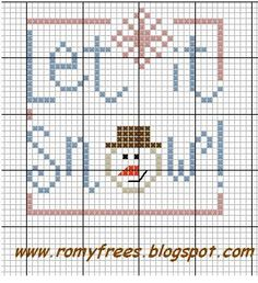 Let it Snow! cross stitch chart (no other info)