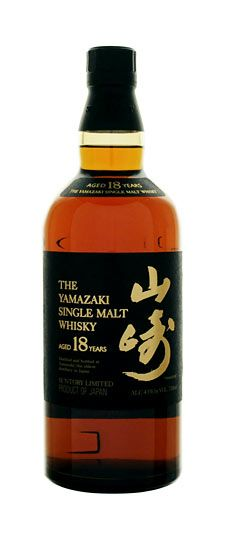 Suntory Yamazaki 18 year old Japanese Single Malt Whiskey. For relaxing times.