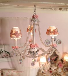 The chandelier with shades, love it!