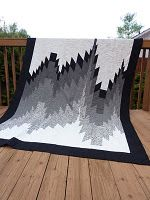 intriguing bargello quilt that uses diamond shaped pieces. love the black, white, gray palette too From Chris:- ARHH Diamonds_ I'm heading your way. Never thought of you for Bargelleo though. Bargello Quilt Patterns, Bargello Quilts, Needlepoint Patterns, Black And White Quilts, Black White, Quilting Designs, Diy Quilting, Quilting Ideas, Quilting Projects